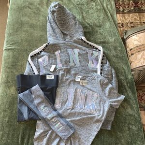 NWT VS PINK XS 3PC Set